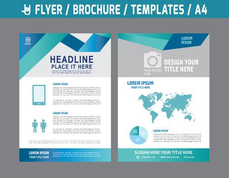 to polygons: Aviador multiusos diseño de la plantilla de vectores en el folleto size.abstract A4 moderna cubierta style.booklet informe layout.Business concepto de marketing ilustración anual.