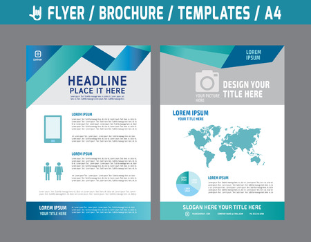 Flyer multipurpose design vector template in A4 size.abstract brochure modern style.booklet cover annual report layout.Business marketing concept illustration.