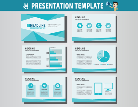 advert: collection of multipurpose presentation template.icons Infographic element.company advert marketing concept.abstract blue polygon flyer layoutbrochure modern style.flat leaflet illustration.