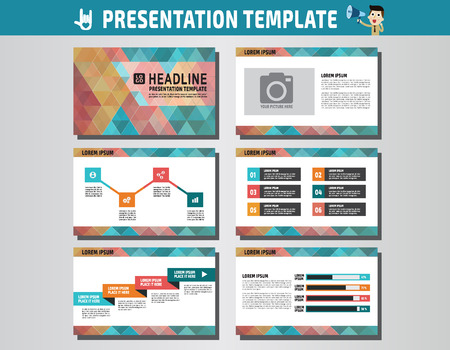 advert: collection of multipurpose presentation template.icons Infographic element.company advert marketing concept.abstract color polygon flyer layoutbrochure modern style.flat leaflet illustration.