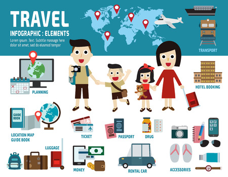 travel.infographic elements concept.flat illustration