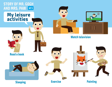 leisure activities.infographic elements.flat illustration