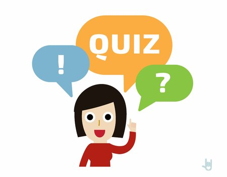 quizzes: woman asking question.flat cute cartoon design illustration.isolated on white background.