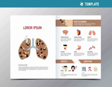 Asthma Infographic Flyer Template A4 Size Design Flat Cute