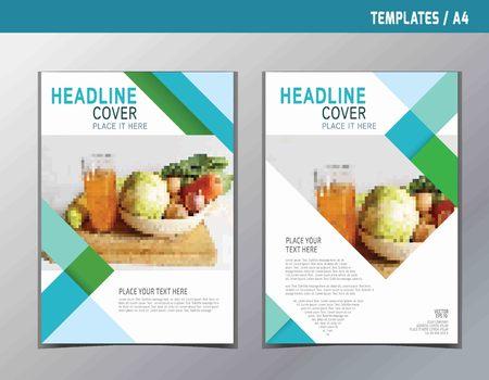 전단지 전단지 브로셔 템플릿 A4 크기 design.abstract 평면 벡터 현대 다목적 style.annual 보고서 책 표지 레이아웃입니다.