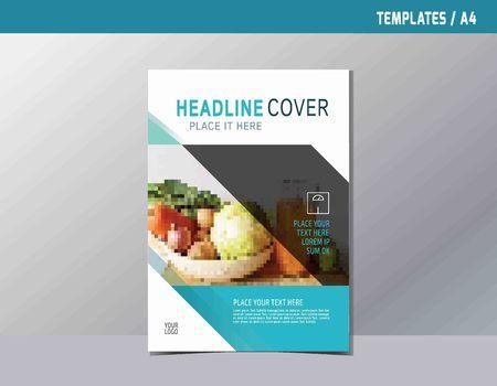 flyer leaflet brochure template A4 size design.