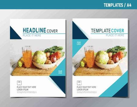 flyer leaflet brochure template A4 size design. abstract  flat vector modern multipurpose style. annual report book cover layout.