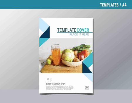 flyer dépliant brochure modèle A4 taille design.abstract plat vecteur modern style polyvalent. rapport annuel couverture de livre mise en page.