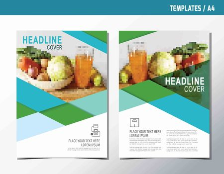 flyer leaflet brochure template A4 size design.abstract  flat vector modern multipurpose style.annual report book cover layout.