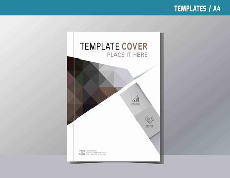 a4: flyer leaflet brochure template A4 size design.abstract  flat vector modern multipurpose style.annual report book cover layout. business branding concept.