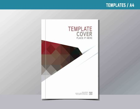 page design: flyer leaflet brochure template A4 size design.abstract Colorful flat vector modern multipurpose style.annual report book cover layout. business branding concept.