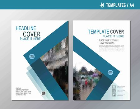 multipurpose: blue abstract  flat vector annual report leaflet brochure template A4 size design.flyer modern multipurpose style.book  cover layout design. Illustration