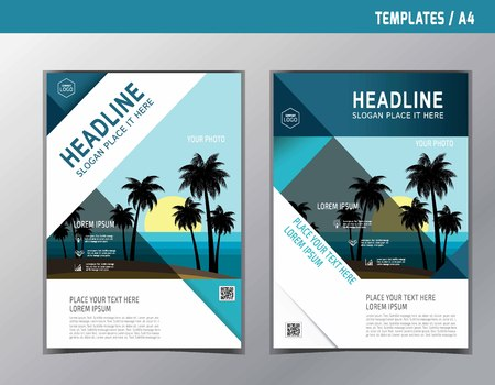 Abstract brochure or flyer design template.Brochure vector.Brochure template. Flyer design. Flyer template.Brochure abstract design. Brochure background. Vettoriali
