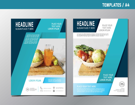 magazine design: leaflet brochure template A4 size design.abstract  flat modern multipurpose style.annual report book cover layout. Illustration