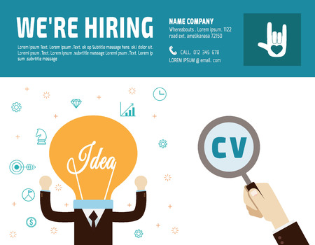 choosing: Hiring. Recruitment. Hand choosing  business people.flat vector  illustration concept.for presentation web banner poster printed materials.isolated on white background