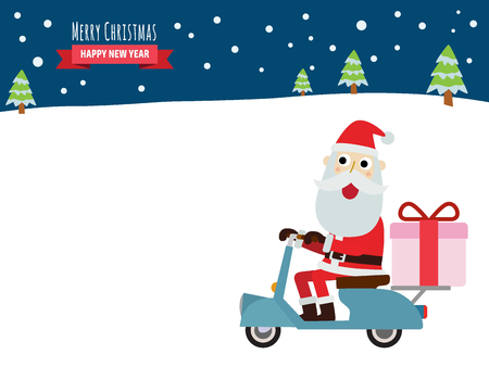 78 Santa Claus Cartoon Motorcycle Stock Vector Illustration And ...