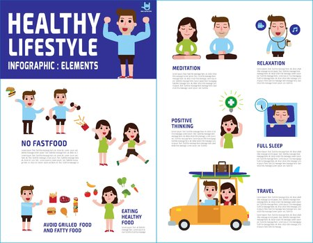 couple people healthy lifestyle. healthcare concept infographic.vector flat icons cartoon design illustration.brochure poster banner.isolated on white background.