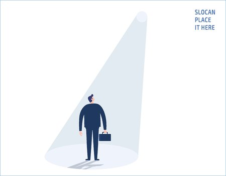 Recruitment or hiring business people concept vector flat design illustration. Illustration