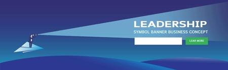 Fahnenführergeschäft, Gelegenheit, Unternehmertum, Suche, GeschäftskonzeptwebseitentitelmarketingVector-Illustrationskarikatur background3d isometrisches flaches Design Eps10 Vektorgrafik
