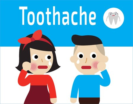 Toothache Concept Vector.Oral Sad Patient Suffering From Toothache.Cartoon Vector illustration flat design