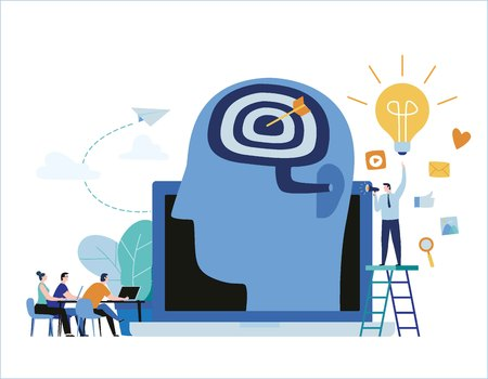 Internet studying tutorials banner design Ilustrace
