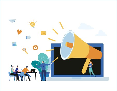 Public relation online training courses banner design
