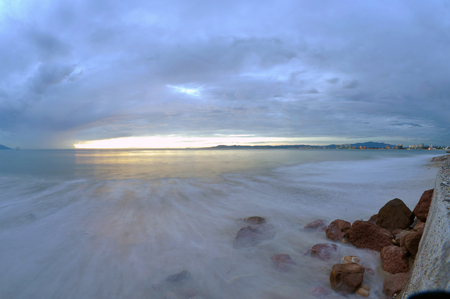 sky and beach Stock Photo