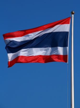 Flag of Thailand on the sky photo