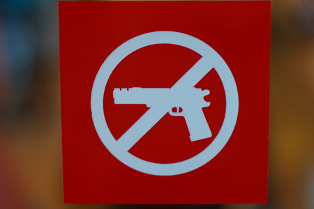 Do not carry a firearm symbol photo