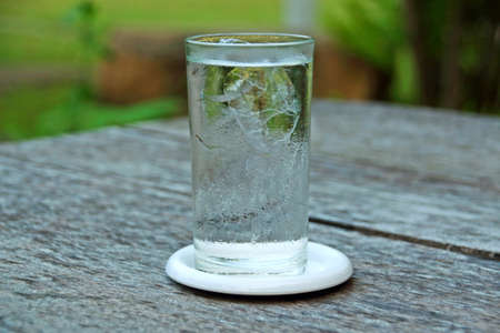 glass of water: glass water on the table