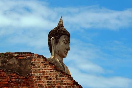 pacification: Buddha statue in Ayutthaya, Thailand Stock Photo