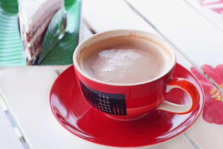 potation: Hot cocoa on the table