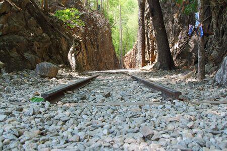 seconda guerra mondiale: Kanchanaburi, in Thailandia - 6 Maggio 2014 Hellfire Pass � il nome di un taglio ferroviario sulla ex Death Railway, fu costruita dai prigionieri di guerra alleati della Seconda Guerra Mondiale