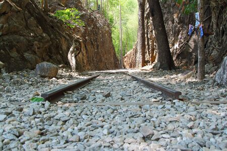 allied: Kanchanaburi, Thailand - May 06, 2014  Hellfire Pass is the name of a railway cutting on the former  Death Railway , was built by Allied prisoners of war the Second World War
