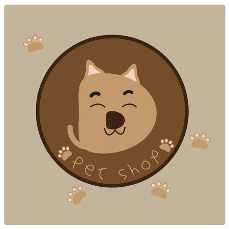 tienda de animales: Signo de la ilustraci�n de la tienda de animales
