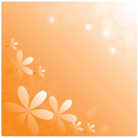 Iillustration abstract background ,orange flowers on orange background