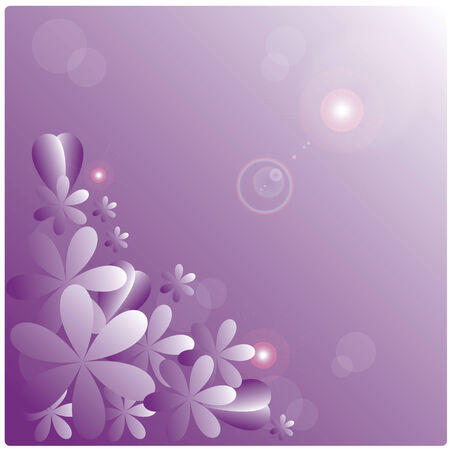 vector purple flowers on purple background Vector