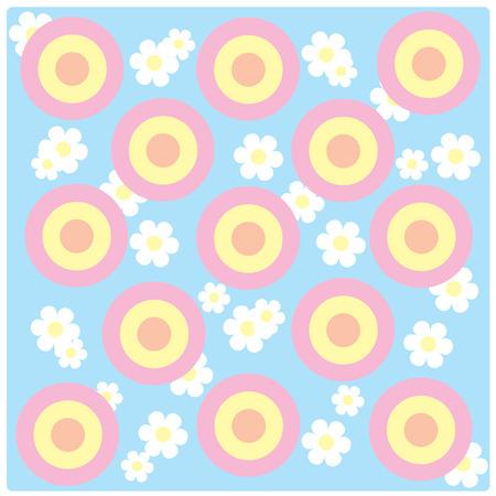 vector pastel colorul circle background Illustration