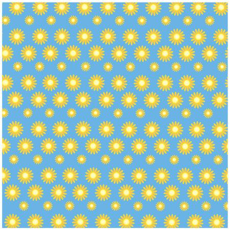 illustration sunflower on blue background Vector