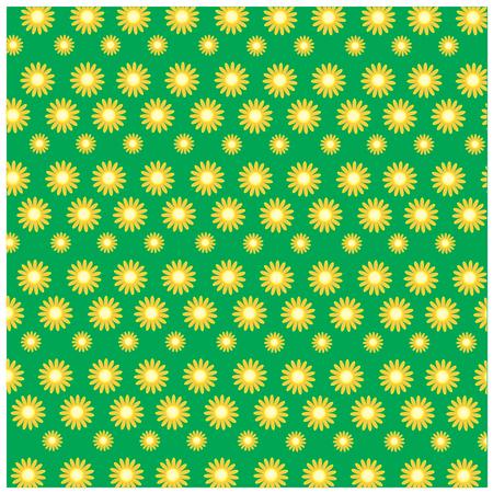 cerulean: illustration sunflower on green background Illustration