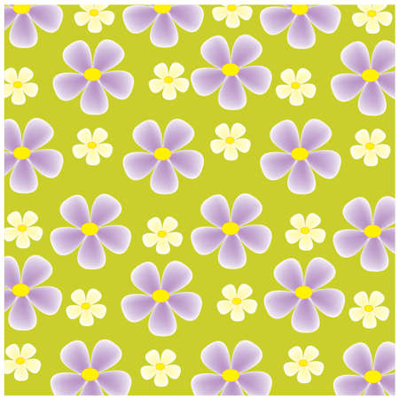 vector colorful flowers on the yellow background
