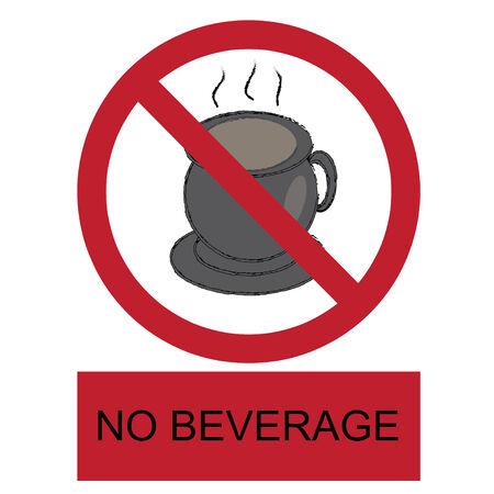 vector no beverage allowed label Stock Vector - 29988375