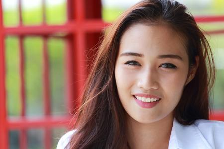 asia smile: Asian women smile closeup Stock Photo