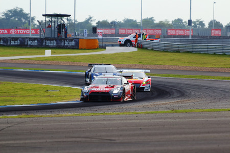 buriram: Briram THAILAND - October 5: Super GT race car, which was first held in Thailand at Chang International Circuit in Buriram United, on October 4-5, 2014 at the Buriram, Thailand