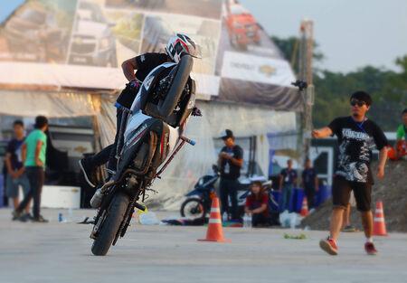 buriram: Buriram THAILAND - October 4: Motorcycle Show Extreme Sports in Super GT race car 2014 at Chang International Circuit in Buriram United, on October 4-5, 2014 at the Buriram,Thailand.
