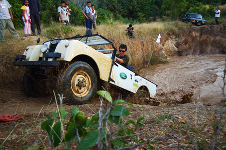 Lop Buri, Thailand - November 29: Land Rover Events, The aggregate annual rally of the Land Rover lovers in Thailand. This event, held 11 of the Land Rover lovers in Lop Buri, Thailand  on November 29, 2014.