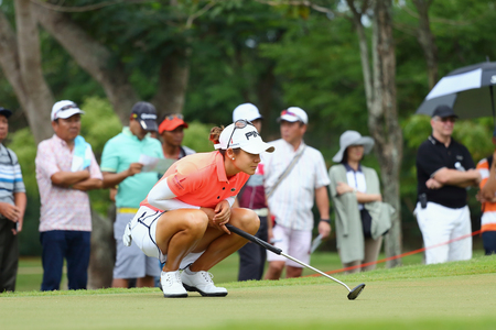 ranked: PATTAYA, THAILAND - March 2: Angela Stanford of USA Ranked 4 of the 2015 LPGA Thailand at Siam Country Club in Chonburi, Thailand on  March 2, 2015. Editorial