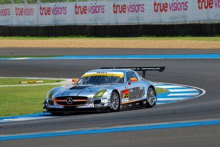buriram: Buriram, Thailand - June 20, 2015: The official qualifying for the BURIRAM SUPER GT RACE, Round 3 of the 2015 AUTOBACS SUPER GT series, was held at the Chang International Circuit Buriram Thailand, on June 19-21, 2015. Editorial