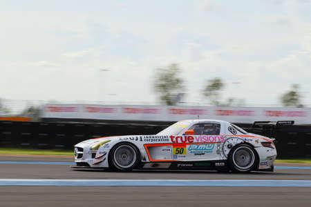 buriram: Buriram, Thailand - June 21, 2015: The final round for the BURIRAM SUPER GT RACE, Round 3 of the 2015 AUTOBACS SUPER GT series, was held at the Chang International Circuit Buriram Thailand. Editorial