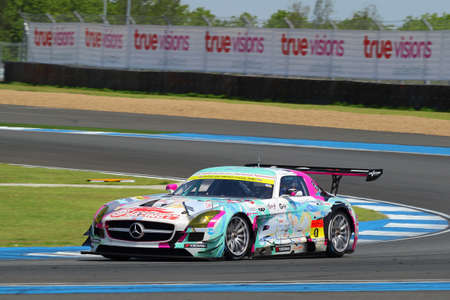 buriram: Buriram, Thailand - June 20, 2015: The official qualifying for the BURIRAM SUPER GT RACE, Round 3 of the 2015 AUTOBACS SUPER GT series, was held at the Chang International Circuit Buriram Thailand. Editorial